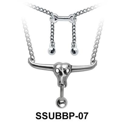 Animal Skull Belly Closure Rings Chain SSUBBP-07