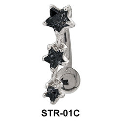 Multi Stone Starry Belly Rings STR-01c