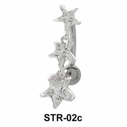 Multi Stone Star Belly CZ Crystal STR-02c