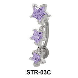 Multiple Stone Star Belly Piercing STR-03c