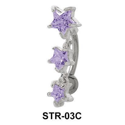 Multiple Stone Star Belly Piercing STR-03c
