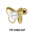 Butterfly Pearl Ear Piercing TIP-2408