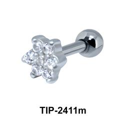 Beautiful Flower Ear Piercing TIP-2411m