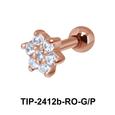 Beautiful Flower Helix Ear Piercing TIP-2412b