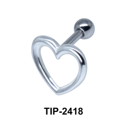 Heart Shaped Helix Ear Piercing TIP-2418
