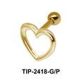 Heart Shaped Helix Ear Piercing TIP-2418