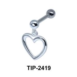Heart Shaped Helix Ear Piercing TIP-2419