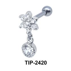 Flower CZ Stone Helix Ear Piercing TIP-2420