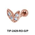Leaf Shaped Helix Ear Piercing TIP-2429