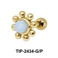 Turquoise Flower Helix Ear Piercing TIP-2434