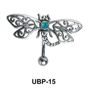 Stone Set Filigree Belly Piercing UBP-15