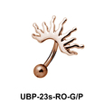 Sunrays Patterned Belly Piercing UBP-23s