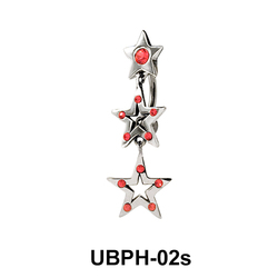 Triple Star Upper Belly Piercing UBPH-02s