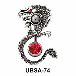 Dragon Shaped Belly Piercing UBSA-74