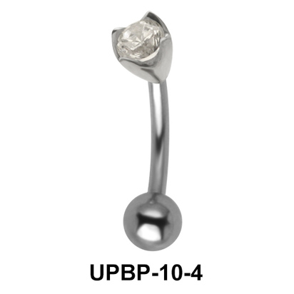 Colorless Stone Upper Belly Piercing UPBP-10-4