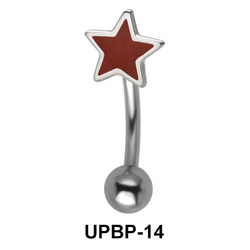 Red Colored Upper Belly Piercing UPBP-14