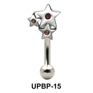 Stone Set Multi Star Upper Belly Piercing UPBP-15
