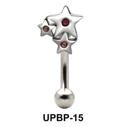 Stone Set Multi Star Upper Belly Piercing UPBP-15