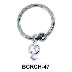 Music Note Closure Rings Charms BCRCH-47