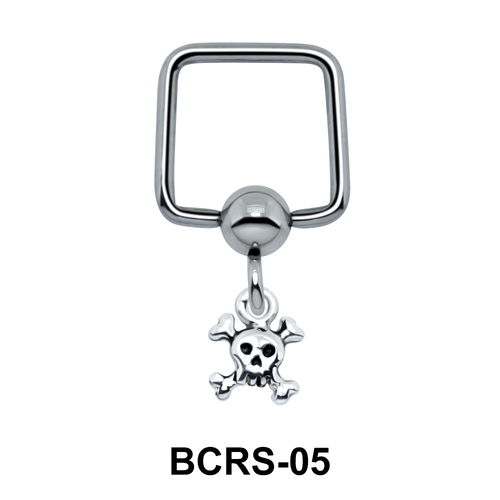 Danger Sign Shaped Helix Ear Piercing BCRS-05