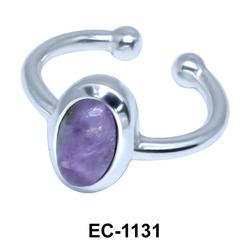 Oval Shape Ear Clips EC-1131