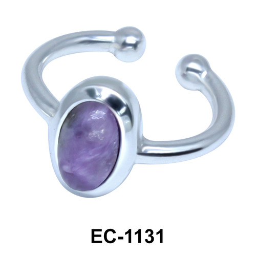 Oval Shape Ear Clips EC-1131