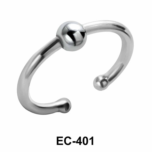 Center Ball Glossy Ear Clips EC-401