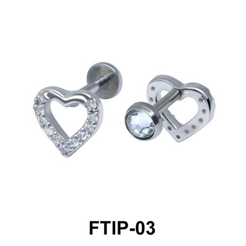 Romantic Passion Helix Ear Piercing FTIP-03