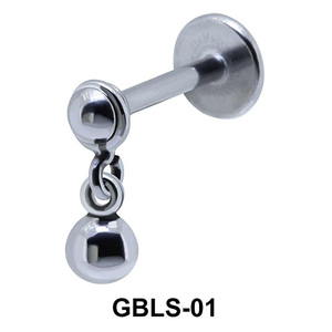 Ball Shaped External Dangling Ear Piercing GBLS-01