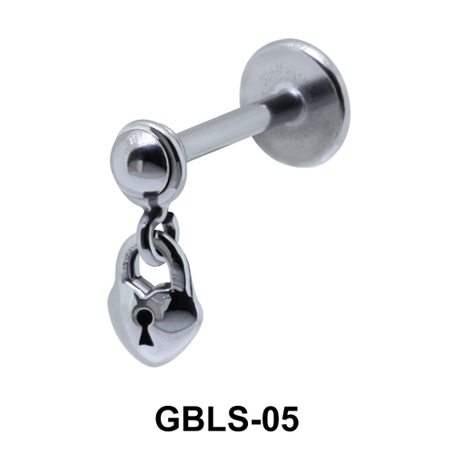 Lock in Heart External Dangling Ear Piercing GBLS-05