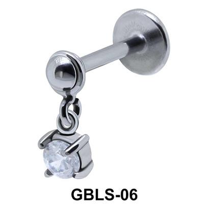 Round CZ External Dangling Ear Piercing GBLS-06