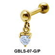 Heart CZ External Dangling Ear Piercing GBLS-07