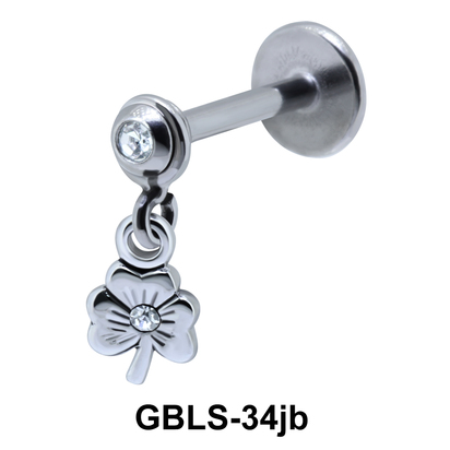 Flower External Dangling with Stone GBLS-34jb