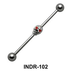 Scary Skull Industrial Piercing INDR-102