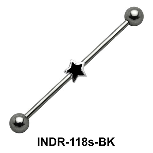 Small Enamel Star Industrial Piercing INDR-118s