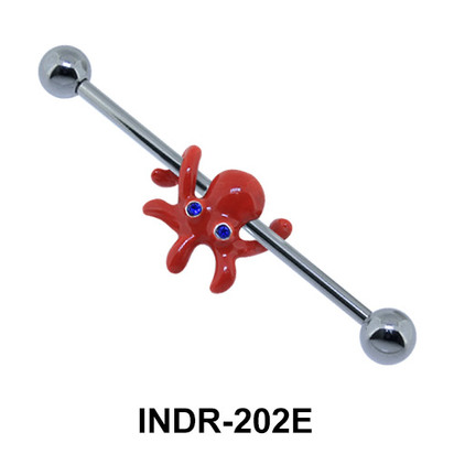 Enamel Octopus Industrial Piercing INDR-202E