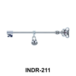 Heart Key Industrial Piercing INDR-211
