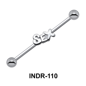 Motif On Silver Industrial Piercing INDR-110