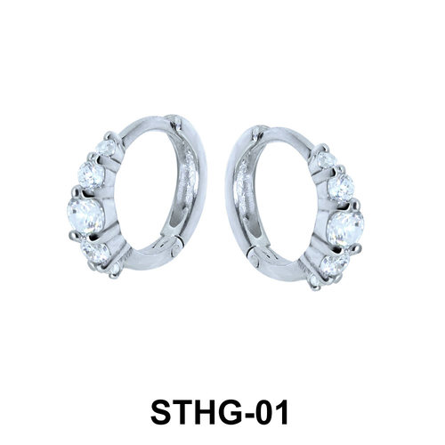 Triple Stones Upper Ear Piercing Ring STHG-01