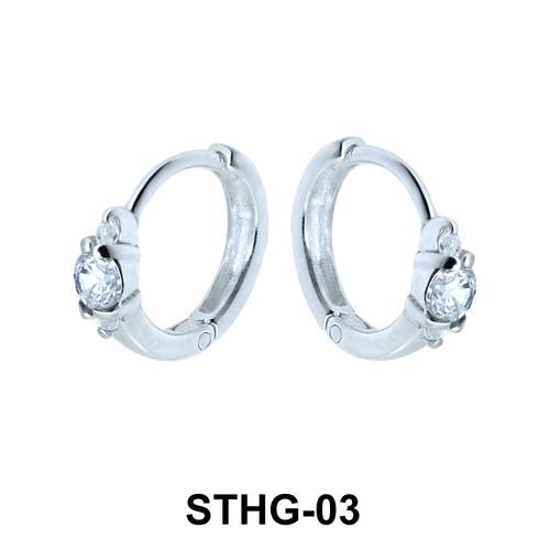 Huge Stone Upper Ear Piercing Ring STHG-03
