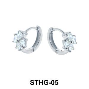 Flower Upper Ear Piercing Ring STHG-05