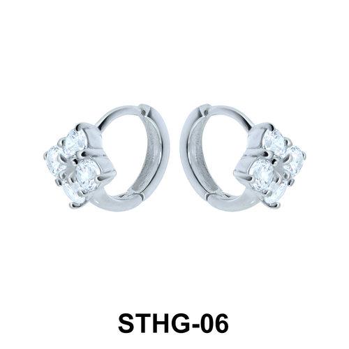 Square Upper Ear Piercing Ring STHG-06
