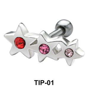 Tri Star Helix Ear Piercing TIP-01
