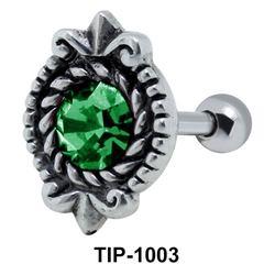 Oval Shaped Helix Ear Piercing TIP-1003