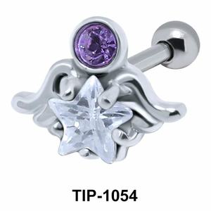 Wavy with Star Shaped Ear Piercing with Star TIP-1054