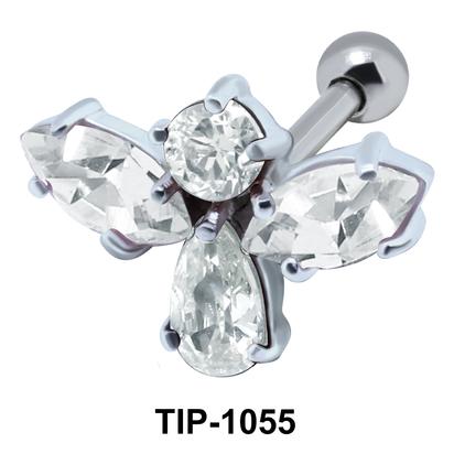 Multiple Stone Angel Upper Ear TIP-1055