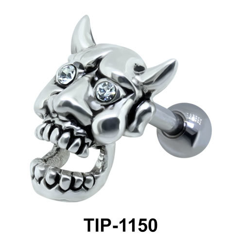Devil Face Shaped Helix Piercing TIP-1150