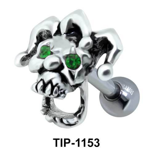 Stone Set Clown Shaped Helix Piercing TIP-1153