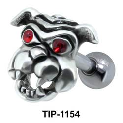 Dog Face Shaped Helix Piercing TIP-1154