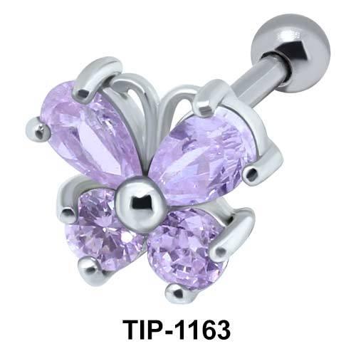 Stone Butterfly Helix Ear Piercing TIP-1163